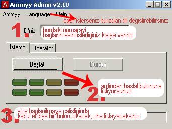 ammyy admin teamviewer uzaktan yardım programı